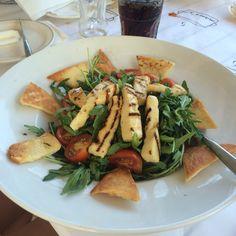My food @kkeabk halumi salad ,halumi,baby tomatoes