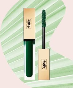 80s makeup is coming back in the best possible way #makeup #green #YSL #lipgloss