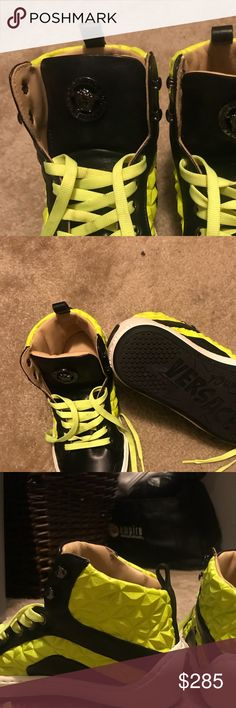 Versace kids shoes size 34 / size 3 These shoes only been worn once brand new the shoe box dose not have the top cover but dust bag is included Versace Shoes Sneakers