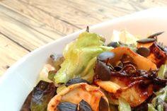leckere [low carb] sachen // salat mit honig-rosmarin-ziegenkäse