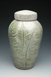 Fern Raku Ceramic Cremation Urn