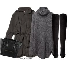 #Celine handbag   6pm boots   #HopePhilly sweater dress   kurtka jacket