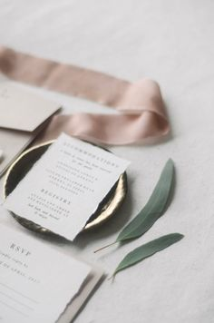 The Chateau Suite utilizes the trending blush color paired with gold foil and deckled cotton edges.   blush, pink, metallic, gold, type, typography, classy, classic, letterpress, traditional, vintage stamps, champagne, elegant, simple, soft pink, ivory  