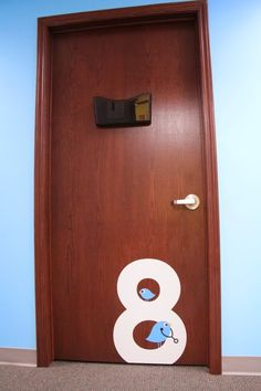 Door numbers in pediatrician's office