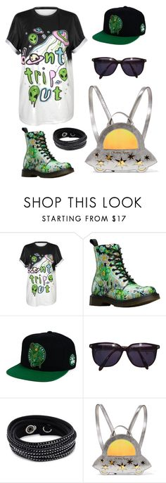 """""""Untitled #220"""" by amaliaut ❤ liked on Polyvore featuring Dr. Martens, adidas, Sonia Rykiel, Swarovski and Charlotte Olympia"""