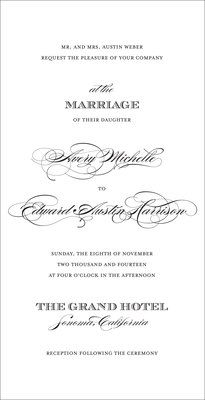 Perfectly Scripted Invitations