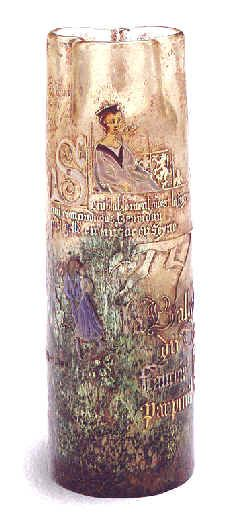 ¤ Emile Gallé. Vase de style médiéval 1884 © Musée de l'Ecole de Nancy