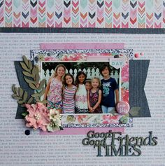 All About Scrapbooks Australia: Cocoa Vanilla Free Spirit - Good Times, Good Friends by Fiona Johnstone