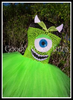 LITTLE GREEN MONSTER Monsters Inc Inspired Tutu by goodygoodytutus