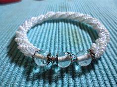 Passione Perline: Bracciale spirale bianco