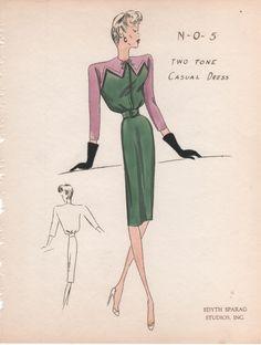 1940's Fashion Sketch
