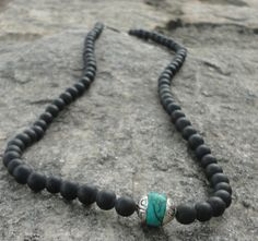 Men's Necklaces  Black Onyx Choker Necklace by AyanaGlazeDesigns, $65.00
