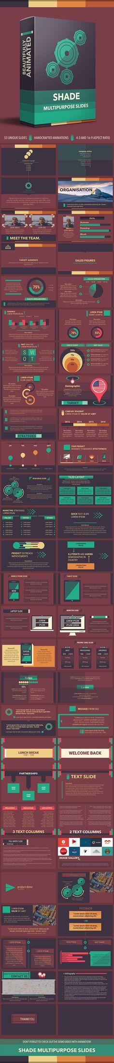 Shade Multipurpose PowerPoint Slides Template. Download here: http://graphicriver.net/item/shade-multipurpose-slides/14851385?ref=ksioks