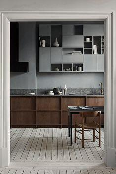 98 Wonderful Modern Kitchen Style 96 ~ Top Home Design Interior Exterior, Kitchen Interior, Design Interior, Wooden Kitchen, Kitchen Dining, Kitchen Cupboards, Küchen Design, House Design, Nordic Kitchen