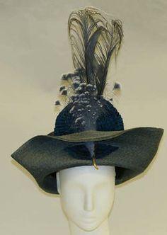 1912 French straw hat.