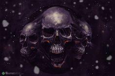 skulls Art Print by Andrei Gaspar Human Skull, Canvas Prints, Art Prints, Grim Reaper, Skull Art, Dark Art, Skulls, Darth Vader, Painting