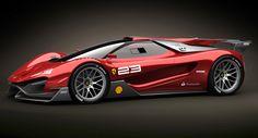 Ferrari Xezri Design Concept Sports Up and Wears its Competizione Costume