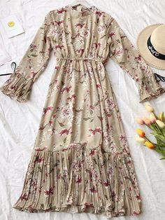 Stylish 45 Pretty Women Floral Dresses Ideas For Simple Women Style Women's A Line Dresses, Lovely Dresses, Trendy Dresses, Simple Dresses, Elegant Dresses, Casual Dresses, Fashion Dresses, Floral Dresses, Long Midi Dress