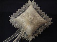 Beautiful ring bearer pillow from butterflykissesgifts.com