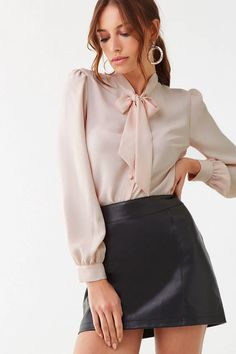 Sissy Likes (Posts tagged short skirt) Sexy Blouse, Blouse And Skirt, Blouse Dress, Tween Fashion, Latest Fashion For Women, Girl Fashion, Fashion Outfits, Cute Skirt Outfits, Classy Outfits