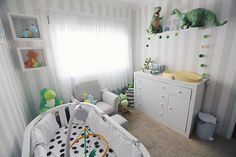 A decoração do quarto do bebê - Tema dinossauros - Lia Camargo