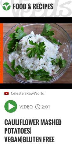 Cauliflower Mashed Potatoes| Vegan|Gluten Free | http://veeds.com/i/t0pbgWd22W52npfj/jummy/