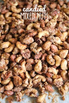 Mixed Nuts These candied nuts are so addicting and delicious, and incredibly easy to make!These candied nuts are so addicting and delicious, and incredibly easy to make! Paleo Nuts, Nuts 4 Nuts Recipe, Sweet Roasted Nuts Recipe, Cinnamon Sugar Nuts Recipe, Sweet And Spicy Mixed Nuts Recipe, Candy Walnuts Recipe, Party Nuts Recipe, Candied Walnuts For Salad, Sugared Pecans