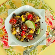 Black Bean, Mango and Quinoa Salad from A Kitchen Muse