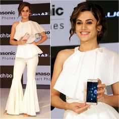 Taapsee Pannu  Top - Avaro Figlio  Pants - Olbees  Styled by - Devki Bhatt