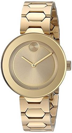 Movado Women's Swiss Quartz Tone and Gold Plated Watch