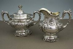"Reed and Barton ""Francis I"" Sterling Silver Sugar and Creamer, c.1953"
