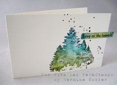 Tutorial Designed For Viva Las Vegastamps Watercolor Christmas Cards Watercolor Cards Simple Watercolor
