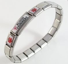 Taking Coumadin Blood Thinners Medical ID Alert Italian Charm Bracelet for only $29.99