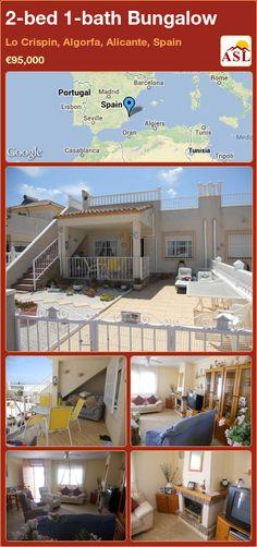 2-bed 1-bath Bungalow in Lo Crispin, Algorfa, Alicante, Spain ►€95,000 #PropertyForSaleInSpain