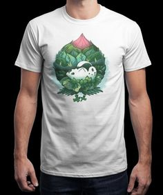 """""""Leaf Flower Pokè"""" is today's £9/€11/$12 tee for 24 hours only on www.Qwertee.com Pin this for a chance to win a FREE TEE this weekend. Follow us on pinterest.com/qwertee for a second! Thanks:)"""