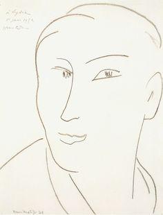 Matisse, Head of a Woman Hermitage, Saint Petersburg 1935 Modern Drawing, Line Drawing, Drawing Sketches, Modern Art, Drawings, Matisse Drawing, Matisse Paintings, French Paintings, Henri Matisse