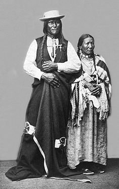 Chief Big Foot with his wife White Hawk. Big Foot was born in the Northern Great Plains. One of the first Sioux to raise a corn crop on the Cheyenne River. He travelled to Washington, D.C. as a tribal delegate and worked to establish schools throughout the Sioux territory.