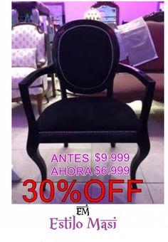 HOT SALE!!! Shop OnLine: http://articulo.mercadolibre.com.ar/MLA-666064646-hot-sale-silla-de-estilo-ovalo-negro-_JM ANTES: $10.499 AHORA: $7.999 Realiza tu compra hoy y elegí el tapizado que mas te guste!! TODOS LOS MEDIOS DE PAGO! TODAS LAS TARJETAS! APROVECHAAA