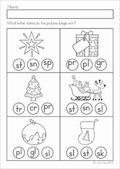 Worksheets S Blend Worksheets s blends worksheets pack christmas math literacy activities no prep