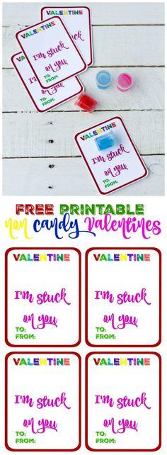 Valentine I'm Stuck on You Free Printable at thehappyhousie.com