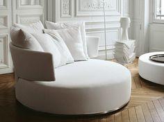 Rundes Sofa aus Stoff Sofa aus Stoff Kollektion Amoenus by Maxalto, a brand of B