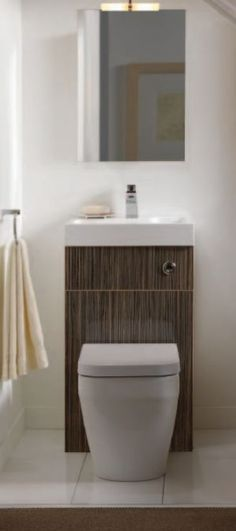 Details About Toilet And Basin Combination Set Superb Space Saving Idea Small Guest Bathroomscottage