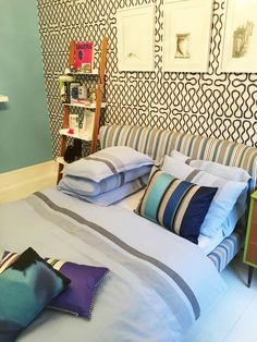 Add stripes to a room to create diversity, with our Sentier bedlinen and cushions