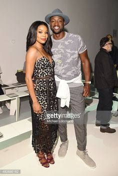 Actress Gabrielle Union and basketball player Dwyane Wade attend the Todd Snyder fashion show during New York Fashion Week: Men's S/S 2016 at Skylight Clarkson Sq on July 14, 2015 in New York City.