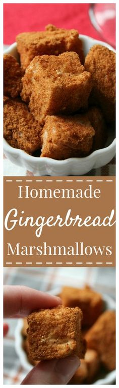 Gingerbread Spice Marshmallows – Fluffy homemade marshmallows with nutmeg, cinnamon, ginger, and cloves to give them the flavors of a gingerbread cookie! A wonderful treat perfect to make for the Christmas season as a gift or dessert! #gingerbread #marshmallow #dessert #nobake #christmas
