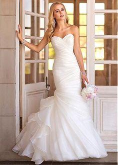 Buy discount Gorgeous Organza Satin Sweetheart Neckline Natural Waistline Mermaid Wedding Dress at Dressilyme.com