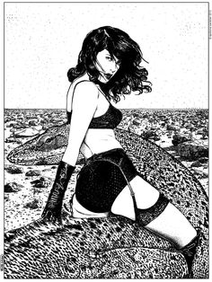 Apollonia Saintclair 398 - 20130806 La cavalière pâle (A princess of Mars) Original picture by Tatiana Gerusova