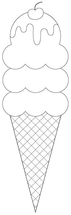 I is for ice cream 3 scoop ice cream cone digital image (cut files and sentiments as well) -- free from Birds Cards