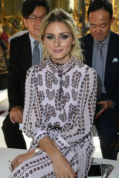 Olivia Palermo attends the Giamba show during Milan Fashion Week Spring/Summer 2017 on September 23 2016 in Milan Italy