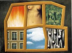 """Today, we wish a happy birthday to Belgian artist René Magritte, best known for his Surrealist paintings. """"The Six Elements,"""" by René Magritte © Artists Rights Society (ARS), New York /. Rene Magritte, Cleveland Museum Of Art, Philadelphia Museum Of Art, Conceptual Art, Surreal Art, Visual Aesthetics, Post Impressionism, Les Oeuvres, Vintage Art"""